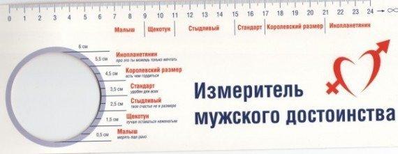 Измерительная линейка полового члена мужчины